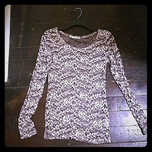 Lace long sleeved blouse.